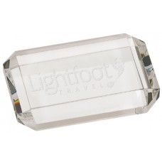 CRY6612 Clear Rectangle Crystal Paperweight